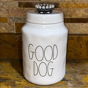 Rae Dunn Good Dog Treat Jar Canister